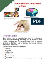 1.1 Dimensión Estética, Intelectual y Ética