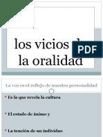 LOS VICIOS DE LA ORALIDAD
