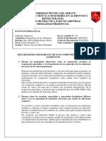 CUESTIONARIO DE METABOLISMO MICROBIANO DE LOS COMPONENTES DE LOS ALIMENTOS