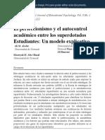 1. Perfeccionismo y Auto-Discapacidad Académica entre Estudiantes Superdotados