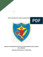 7. Propuesta de Protocolo de Bioseguridad i.e. Tecnica Agropecuaria de Chivata
