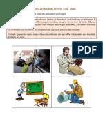 professions en eur - phonétique - images
