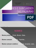 Classes - Subclasses Das Palavras