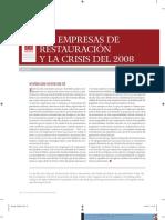Arespa. Empresas de Rest. y Crisis de 2008. 2008