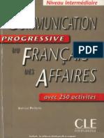 Manuel Communicationprogressivedufranaisdesaffairesniveauintermdiaire