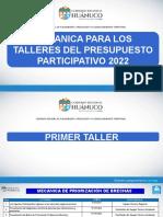 Guion Para Los Talleres Del Ppbr 2022 Gore Hco