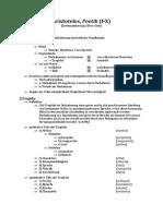Systematisierung - Aristoteles, Poetik (I-X)