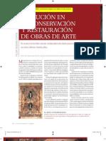 Sedano, P. Evolución en la conserv. rest. de obras de arte. 2008