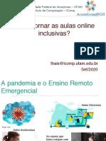 Slide Inclusao Online