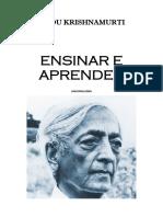 Jiddu Krishnamurti - Ensinar e Aprender