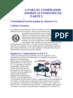 UNA GUIA PARA EL COMPRADOR DE ELEVADORES AUTOMOTRICES Parte 2