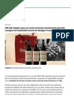 OKCLUB inaugura para sus socios exclusivas promociones gourmet_ consigue este espléndido estuche de Bodegas Protos