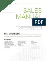 T2-iDDR - Sales Manual v1.4(1)