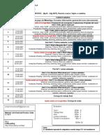 Class Schedule. English I Nocturno. 2021-1