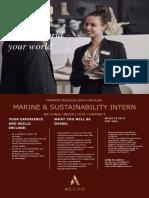 Marine Sustainability Intern - 31032021