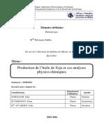 Production de l'Huile de Soja Et Ces Analyses Physico-chimiques (1)