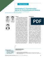 Tratamento Interdiciplinar I Considerações Clínicas e Biológicas na Verticalização de Molares171