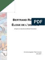 Eloge de l'oisiveté - Bertrand Russel