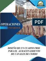 DISEÑO DE CUARTO FRIO (CANALES DE CERDO)
