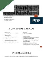 MATEMATICA FINANCIERA interes simple y compuesto formulas