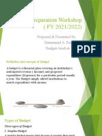 Budget Preparation Workshop ( FY 2021-FINAL