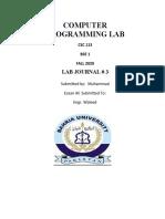 COMPUTER PROGRAMMING LAB 03