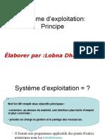 Système d'exploitation Principe