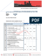 presupuesto obra Huarochiri -2021