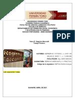 EVALUACIÓN desarrollo TERCER CORTE, Equipo Nro. 1, Tema 27. Registro Mercantil