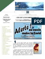 10 bonnes raisons de refuser le vaccin contre la Covid - Document complet.