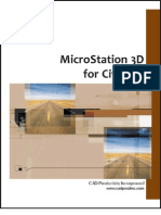 MicroStation 3D for Civil XM TOC
