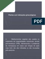 NOVAES, PLANTAS E GINECOLOGIA