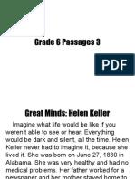 Grade 6 Passages 3