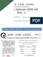 PREGUNTA 4 TEMA Q PRUEBA DE SELECCIÓN CEPRE UNI 2011-2