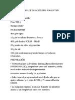 PAN DE MOLDE DE ACEITUNAS SIN GLUTEN - Receta