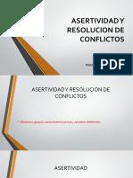 ASERTIVIDAD Y RESOLUCION DE CONFLICTOS