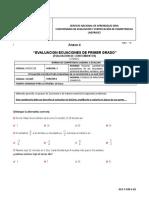 Anexo 4 Evaluacion de Ecuaciones de primer grado
