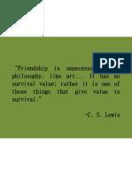 Friendship is unnecessary