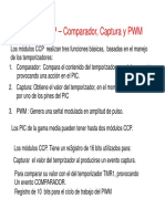Módulo CCP – Comparador, Captura y PWM