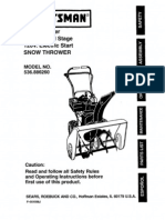 SNOWBLOWER-Crafstman 9 Horsepower 26 Inch Dual Stage 120V Electric Start Snow Thrower Model Number 536.886260