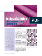 Knitted Loop Structure and Notations