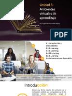 Unidad 3. Ambientes Virtuales de Aprendizaje