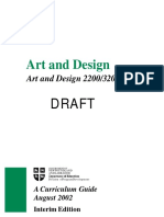 Art and Design 22003200 Curriculum Guide