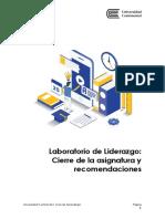 Cierre de La Asignatura_Laboratorio de Liderazgo