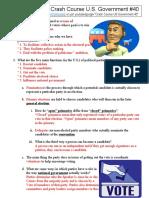 Crash Course U.S. Government and Politics 40 Political Parties