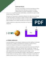 APLICACIÓN DEL PRINCIPIO DE PASCAL