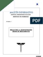 Boletin Informativo 7. Reglas para la Administracin segura de Medicamentos