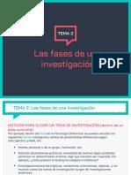 TEMA 2_1 Las fases de una investigacion