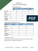 IMS-FR-FS-29 Food Fraud record (Mandalay) ver 001 eff 01.10.18