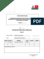 Hidrologia e Hidraulica Memoria Descriptiva